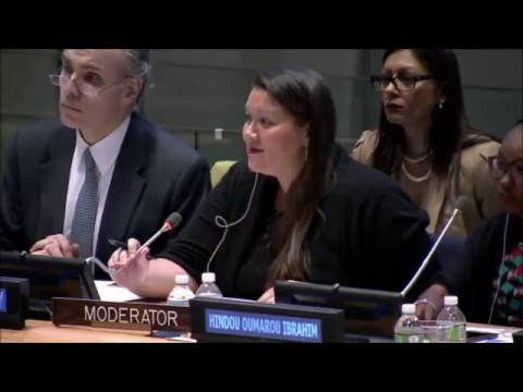 Plenary Session: Promoting Youth as Partners in the Implementation of the 2030 Agenda