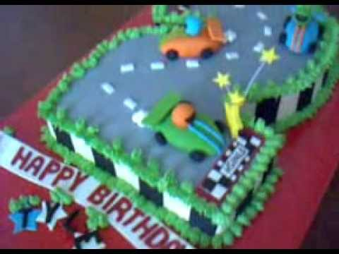 2 Race Track cake YouTube