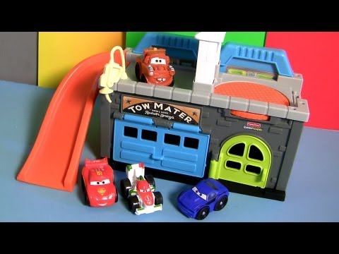 Wheelies Cars 2 Mater S Garage Playset Radiator Springs Towing Shop Disney Pixar Rod Torque Redline Youtube