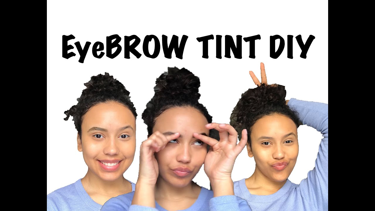 EYEBROW HACK   How to Tint Your Eyebrows at Home   Detailed