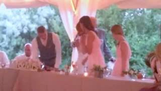 Dads toast speech Redding Wedding ending