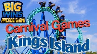 Carnival Games at Kings Island - Big Wins! Arcade Show