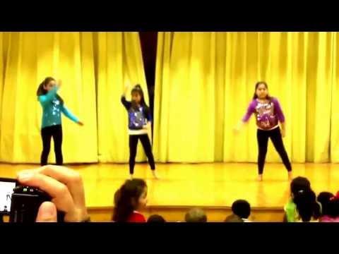 Siyona's dance at international potluck day, estabrook school
