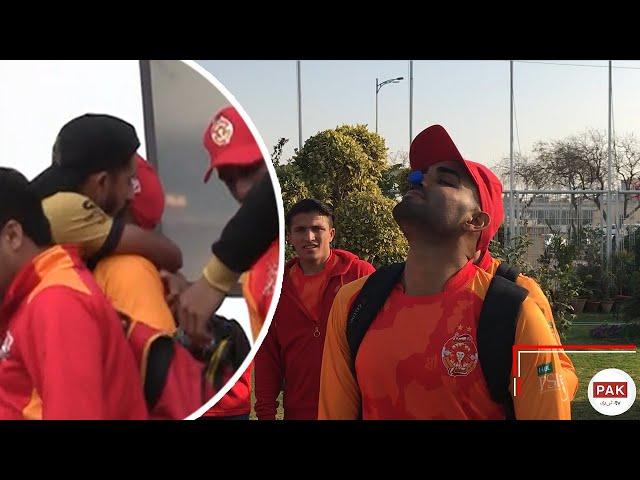 Cricketer Hassan Ali kisses Asif Ali
