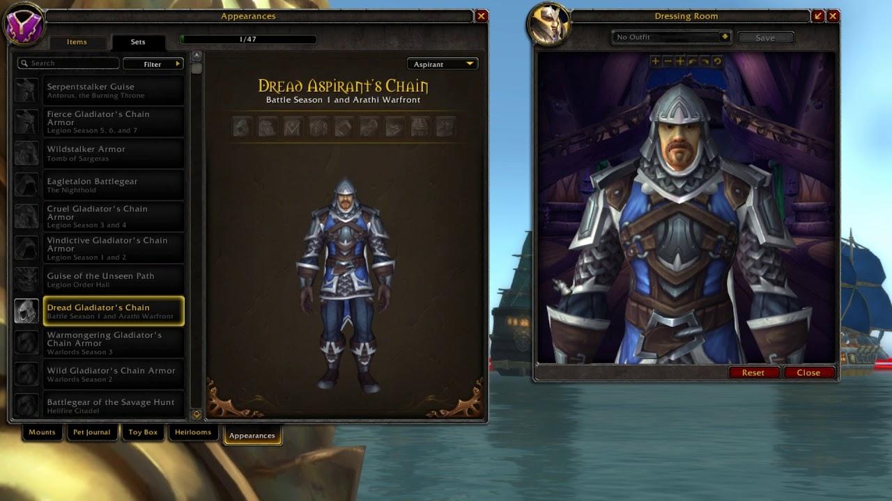 Dread Aspirants Chain Alliance Mail Pvp Armor World Of Warcraft