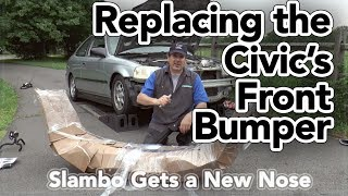 Honda Civic Front Bumper Replacement - Slambo Gets a New Nose