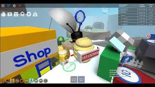 Playing roblox Bee swarm