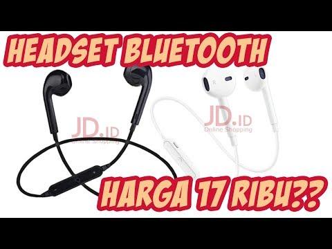 UnBoxing HeadSet BlueTooth Olahraga Murah 17Ribuan