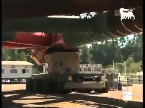 Western Libya Gas Project. Sabratha platform . Eni