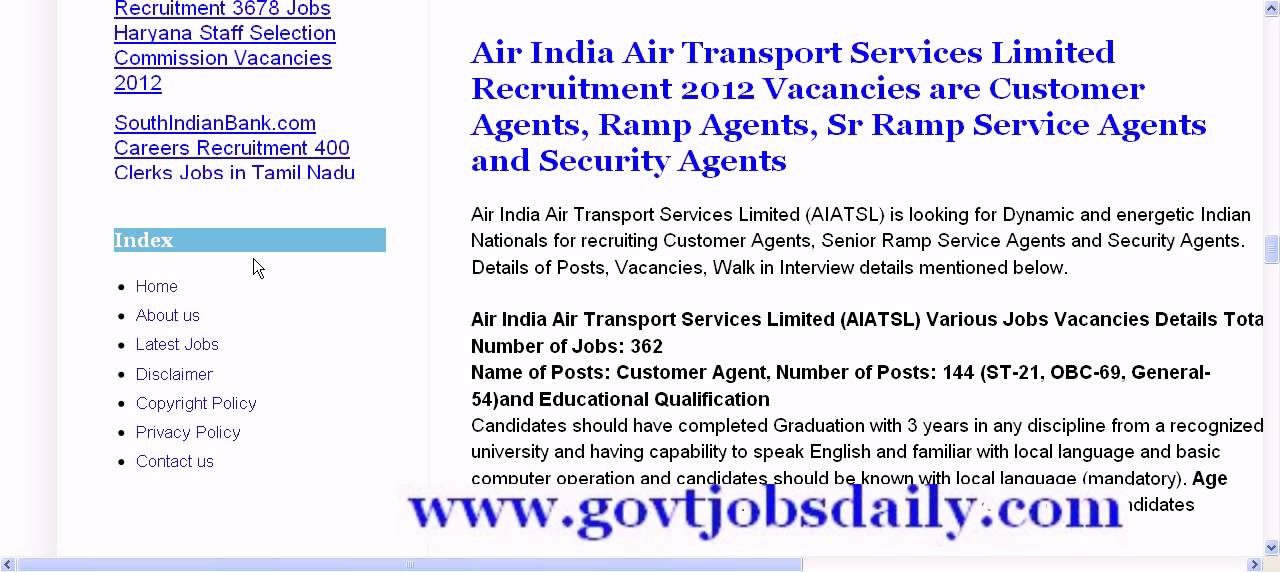 Bet govt job sites India - YouTube