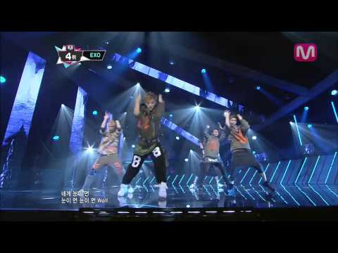 EXO 늑대와 미녀 (Wolf by EXO@M COUNTDOWN 2013.6.20)