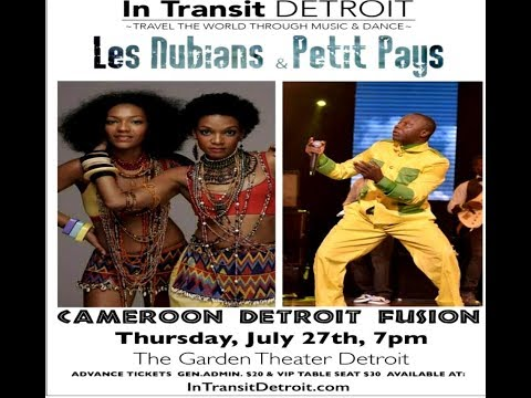 Live Concert Petit Pays & Les Nubians (07/27/2017) in Detroit, USA
