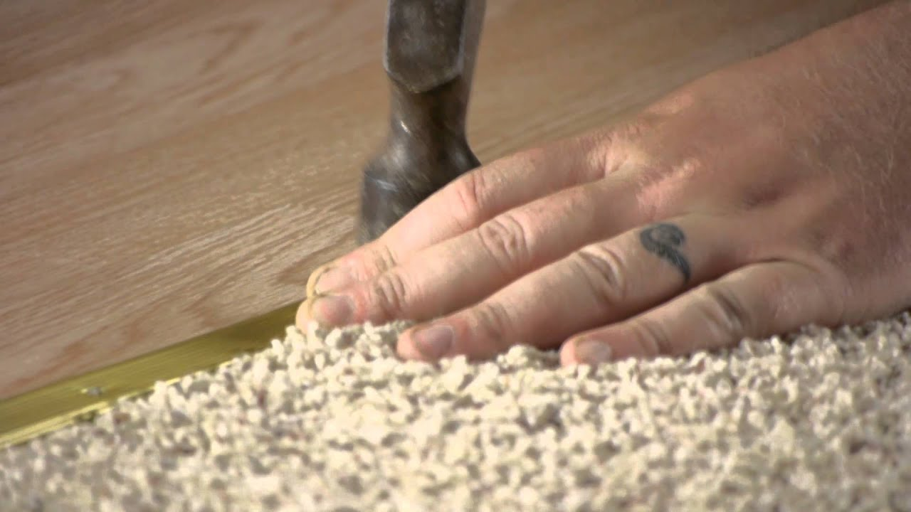 How to Install a Flooring Transition Strip  Flooring Help
