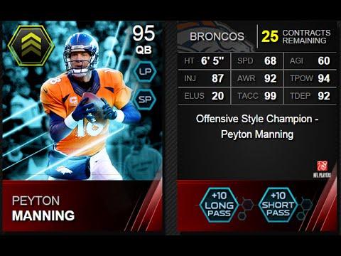 Madden 15 Ultimate Team-ELITE 95 Peyton Manning-In Depth Review