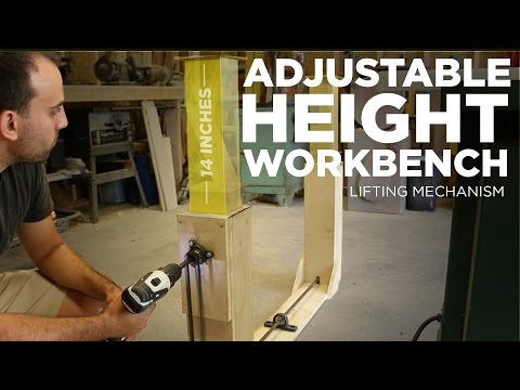 Mike Makes an Adjustable Height Workbench (Lifting Mechanism)