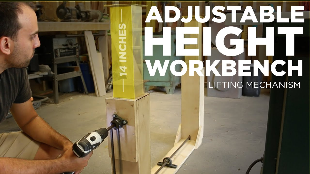 Mike Makes an Adjustable Height Workbench Lifting
