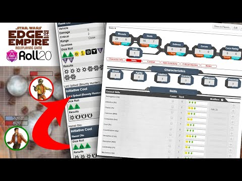 How To Set Up Star Wars: Edge Of The Empire In Roll20 - Online Pen & Paper Roleplaying Guide