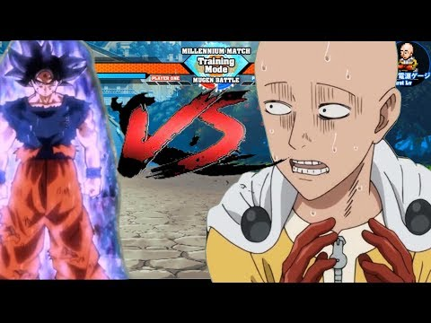 Goku (All Forms) Vs Saitama (One Punch Man)- Sprite Gameplay|| Download Link