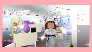 My daughter's first Birthday with me (quarantine) (Roblox) bloxburg 💗