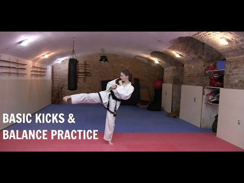 Taekwon-do | Basic Kicks & Balance Practice 🥋