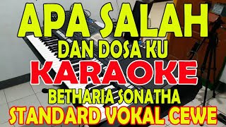 Download Mp3 Apa Salah Dan Dosaku  Betharia Sonatha  Karaoke Vokal Wanita