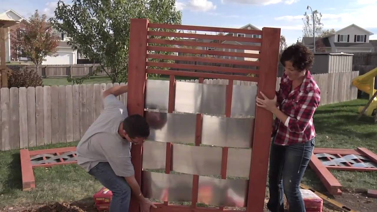Lowe S Creative Ideas Building An Outdoor Privacy Screen