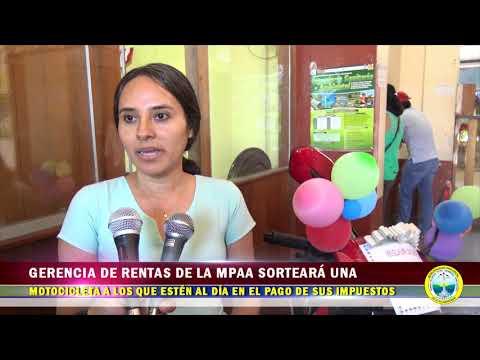 INFORME GERENCIA DE RENTAS DE LA MPAA SORTEARÁ UNA MOTOCICLETA ENTRE LOS QUE SE ENCUENTREN AL DÍA EN