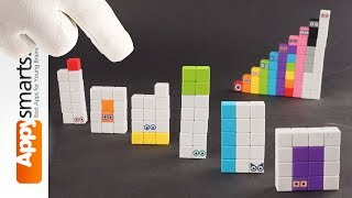 More Fun With Our Numberblocks (numbers 11-16) made from magnetic cubes (crafts for kids)