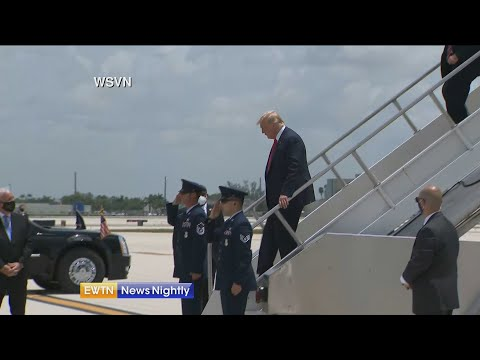 "President heads to FL, praises work being done to bust drug dealers;""Fay"" cancels NH rally