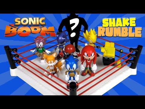 SONIC BOOM Shake Rumble with Sega Sonic Toys, Super Sonic, Knuckles & Dr. Eggman by KidCity