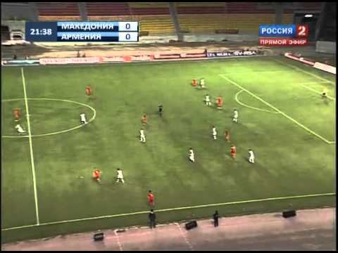 ОМ ЕВРО-2012  Македония - Армения (1-й тайм) EURO-2012 Macedonia-Armenia