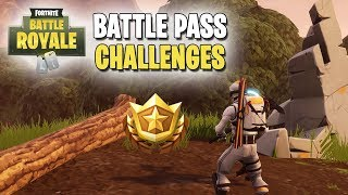 Fortnite | Battle Pass Challenges | Week #10 | Search Between Stone Circle, Wooden Bridge & Red RV!