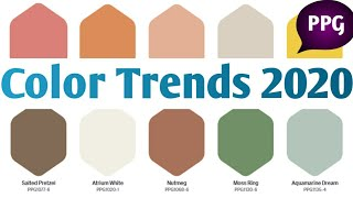 Popular Color Trends 2020| PPG Color Charts USA|Trending interior paint colors