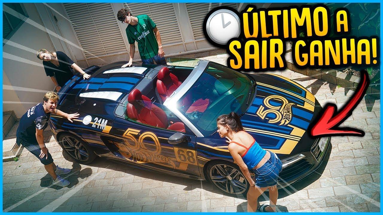 CASAL VS CASAL: ULTIMO A TIRAR A MÃO GANHA O HOT WHEELS AUDI R8!! [ REZENDE EVIL ]