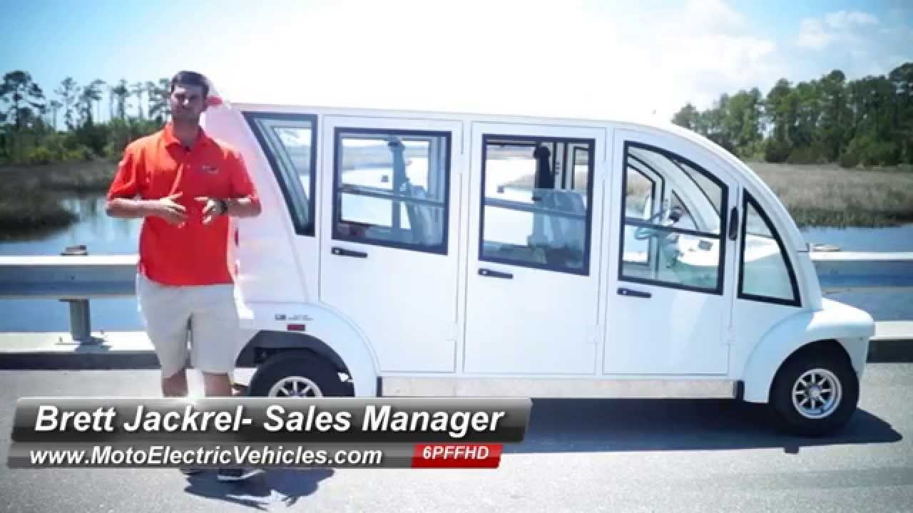 6 Passenger Hard Door Bubble Electric Cart Low Speed