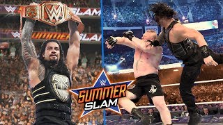 Roman Reigns Vs Brock Lesnar Summerslam 2018 Highlights ! WWE Summerslam 2018 Results !