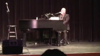 Billy Joel Q&A to support LIHSA at The Tilles center discussing how he came up with Allentown 2/8/16