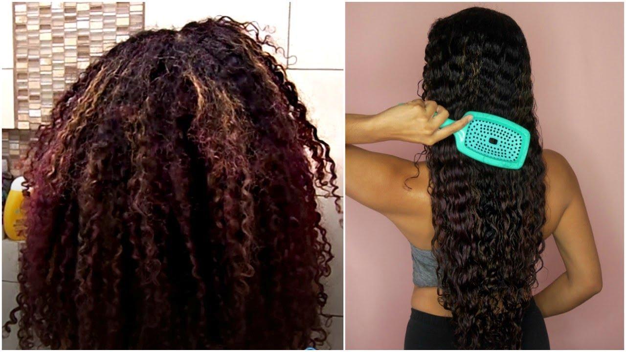 how i detangle my tailbone length curly hair fast youtube