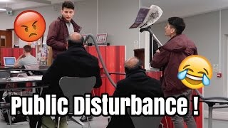 LOUD Hoovering In The Library Prank!