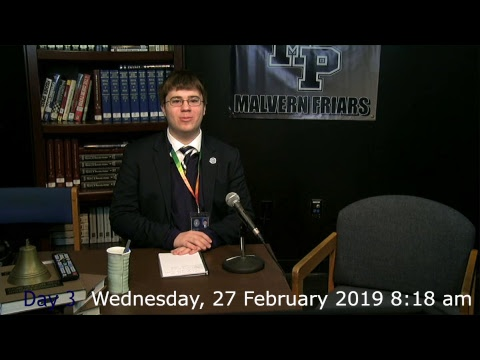 Malvern Preparatory School Morning Announcements 2018-19