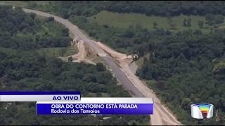 Obras do contorno sul da Tamoios estão paradas