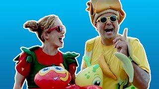 فوزي موزي وتوتي - يلا نروح عالبحر، أغنية البطة البطبوطة، كعكة عيد الميلاد، مواد تنظيف - 13 دقيقة