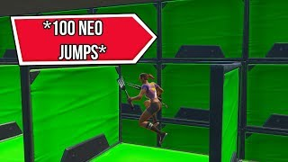 100 NEO JUMPS SANS CHECKPOINTS!! | Carte d'AciDicBliTzz (fr) Fortnite Créatif