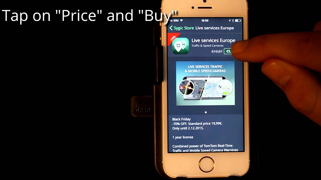 Sygic GPS Navigation for iOS - How to purchase Live Services