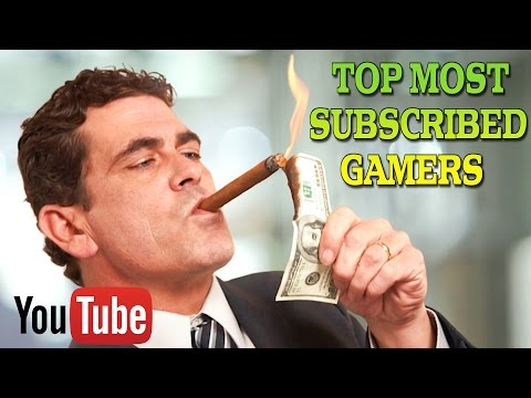 TOP 50 MOST SUBSCRIBED YOUTUBE GAMERS