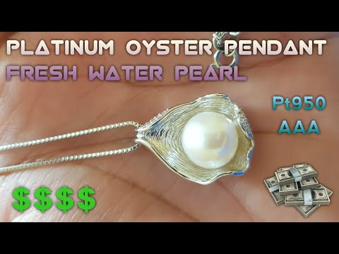AAA FRESH WATER PEARL & PLAT950 PLATINUM OYESTER PENDANT | RELAXATION JEWELLERY THERAPY