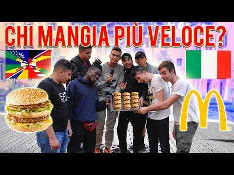 Italiani VS Stranieri - Chi mangia McDonald's più velocemente? GARA di CIBO