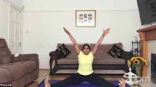 24-06-2020 - Hatha Yoga By Bhavnaben Jogi