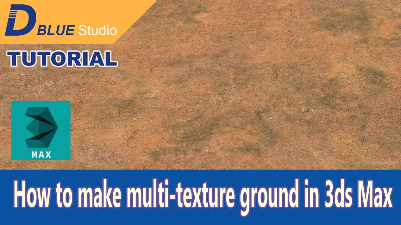 How to make multi-texture ground in 3ds Max