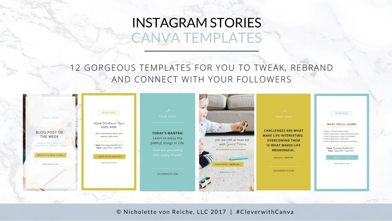 Instagram Stories Canva Templates Youtube